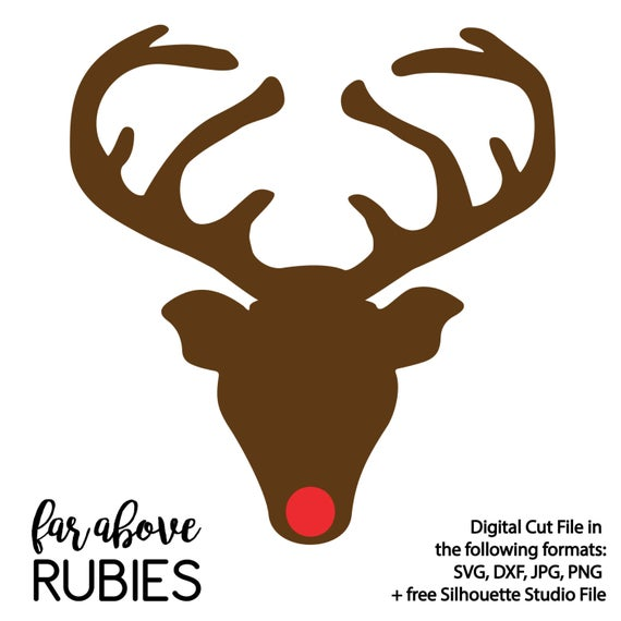 reindeer silhouette svg #454, Download drawings