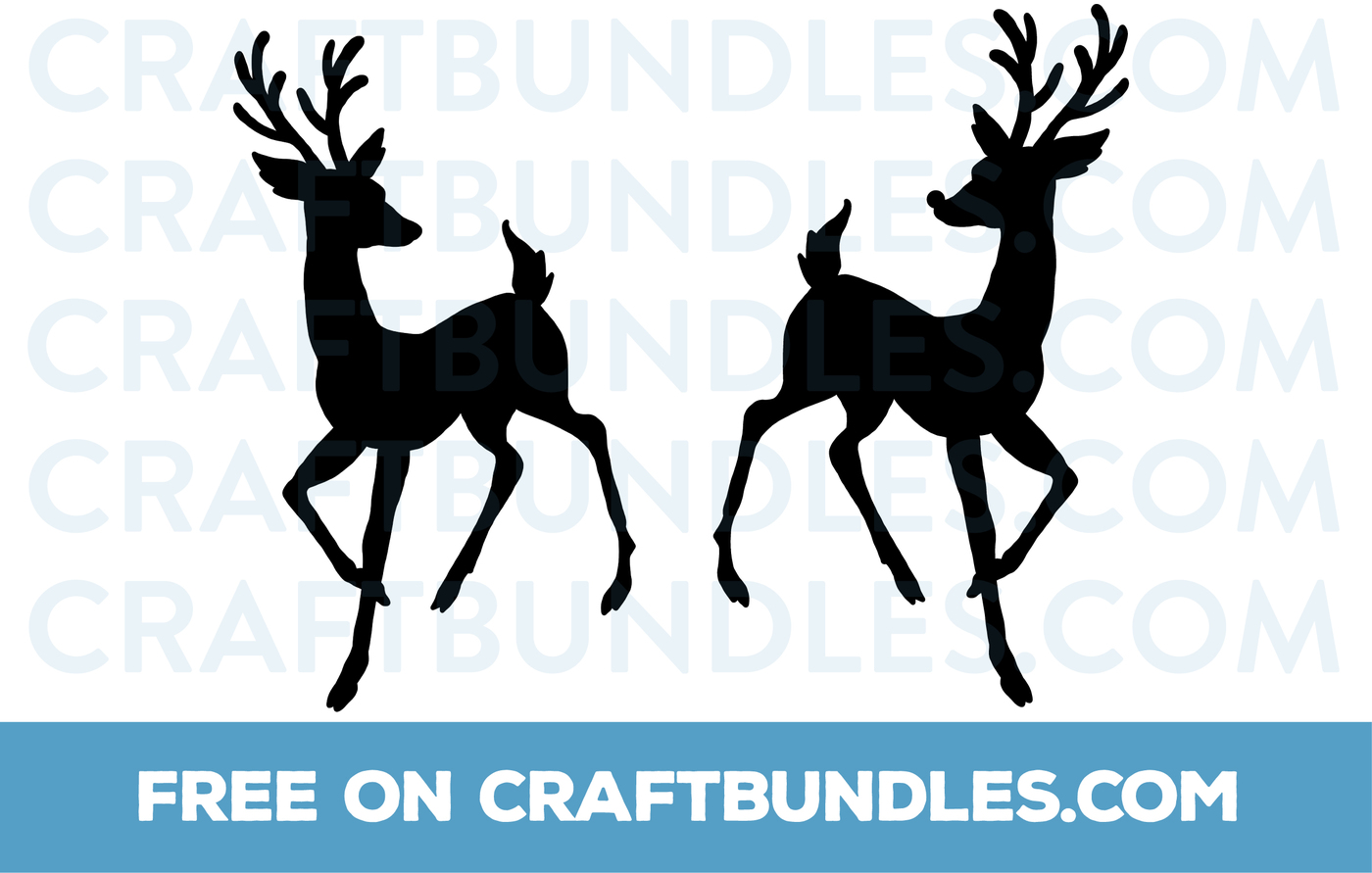 reindeer silhouette svg #446, Download drawings