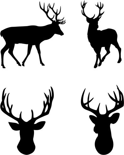 reindeer silhouette svg #456, Download drawings