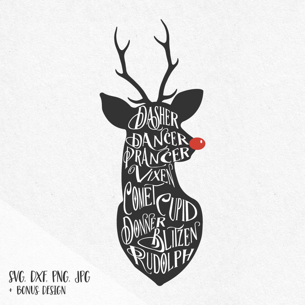 Reindeer svg #12, Download drawings