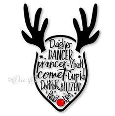 Reindeer svg #1, Download drawings