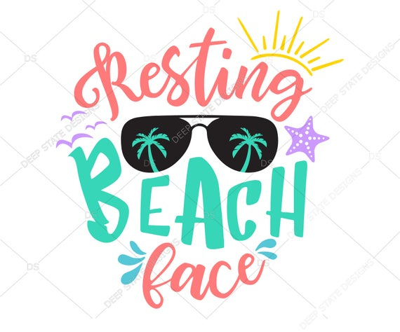 resting beach face svg #831, Download drawings