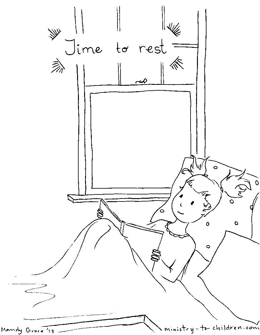 Resting coloring #18, Download drawings