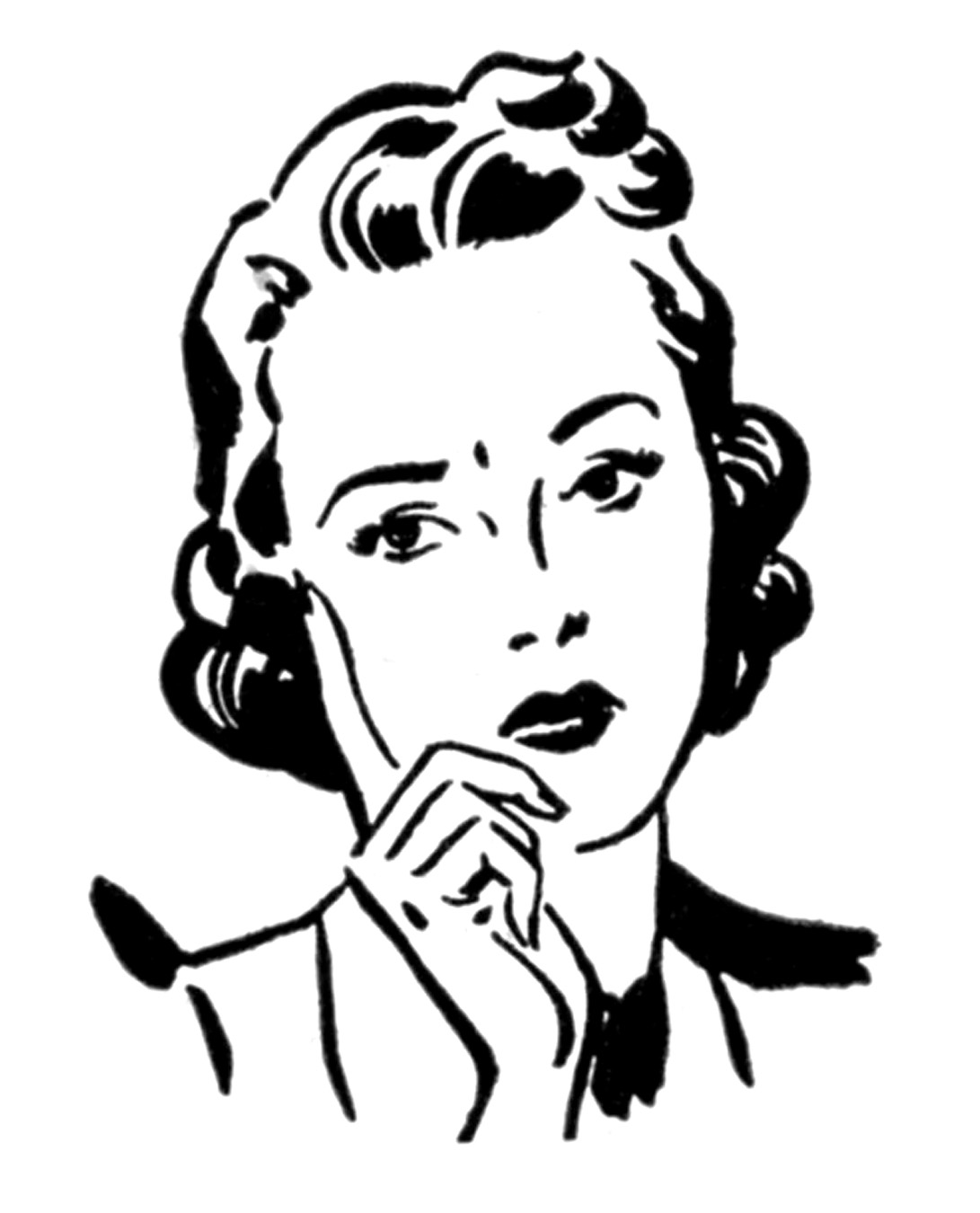Retro clipart #3, Download drawings