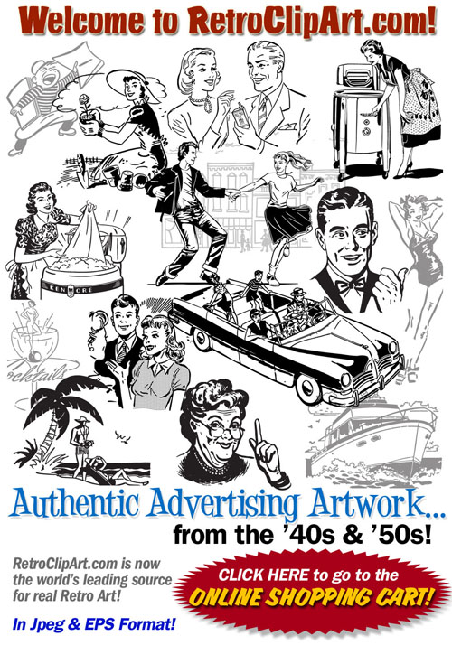 Retro clipart #4, Download drawings