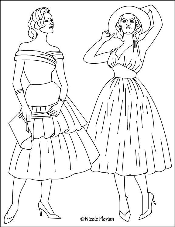 Retro coloring #6, Download drawings