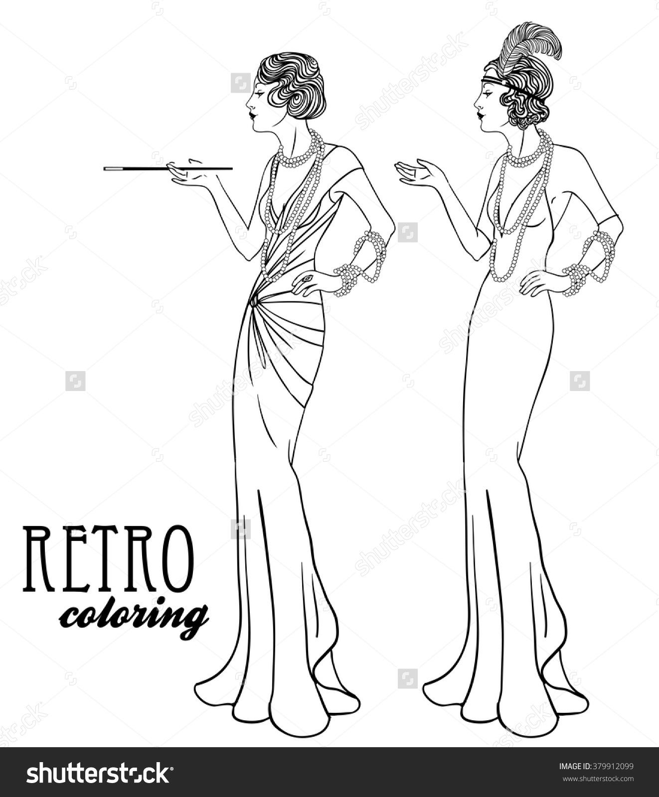 Retro coloring #16, Download drawings
