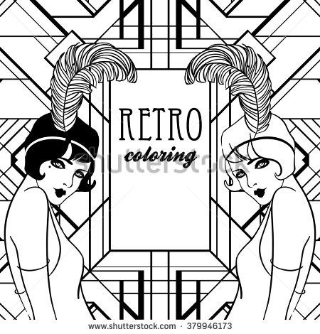 Retro coloring #19, Download drawings