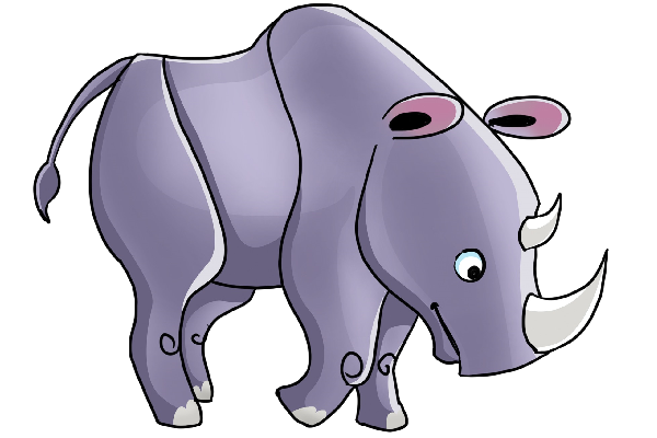 Rhino clipart #7, Download drawings