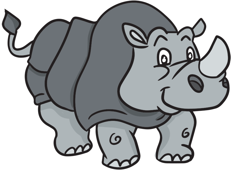 Rhino clipart #8, Download drawings