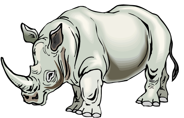 Rhino clipart #4, Download drawings