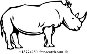 Rhino clipart #15, Download drawings
