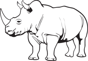 Rhino clipart #12, Download drawings