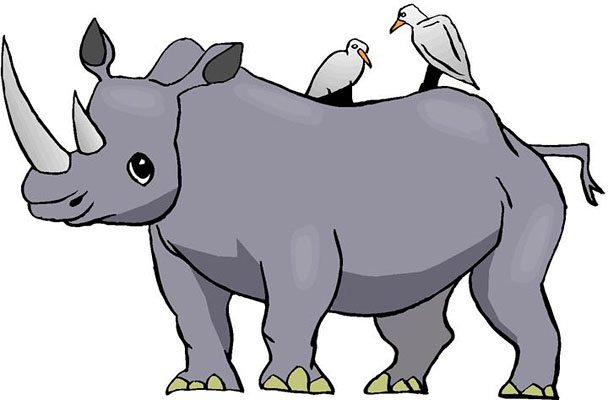 Rhino clipart #9, Download drawings