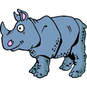 Rhino clipart #2, Download drawings