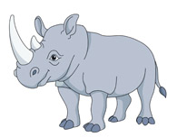 Rhino clipart #1, Download drawings