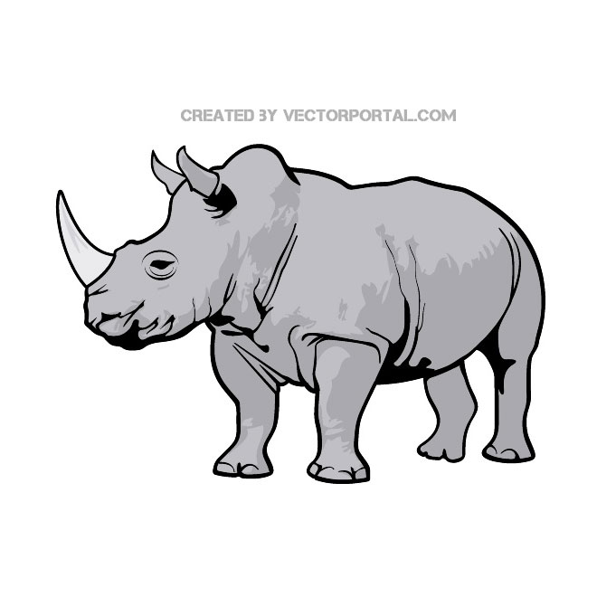 Rhino clipart #6, Download drawings