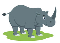 Rhino clipart #3, Download drawings