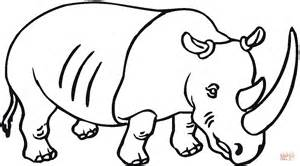 Rhino coloring #14, Download drawings
