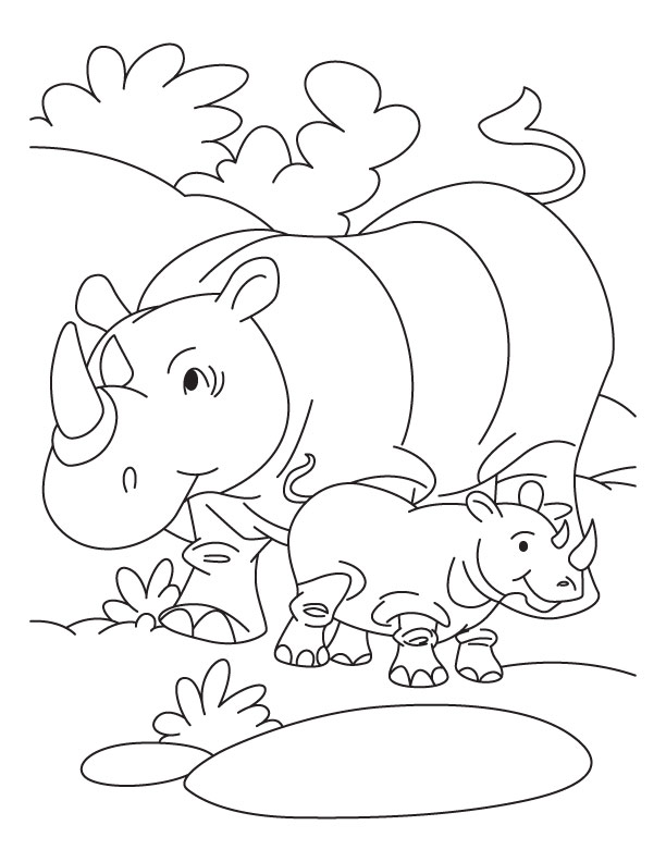 Rhino coloring #17, Download drawings