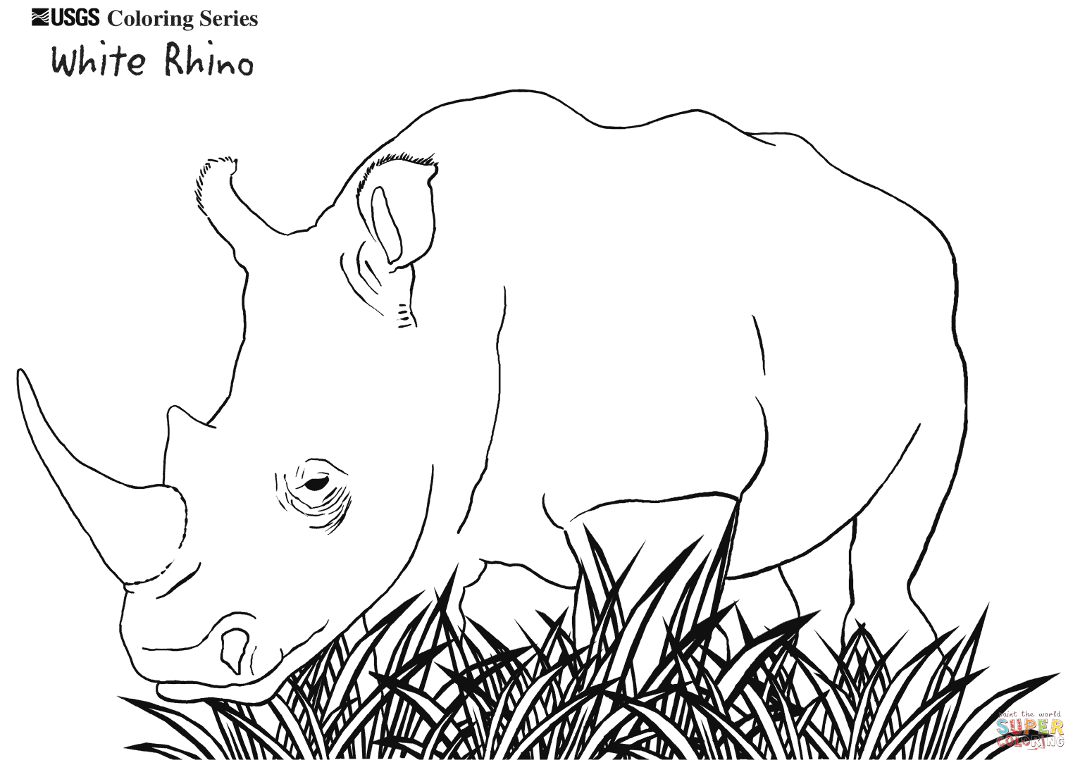 Rhino coloring #4, Download drawings