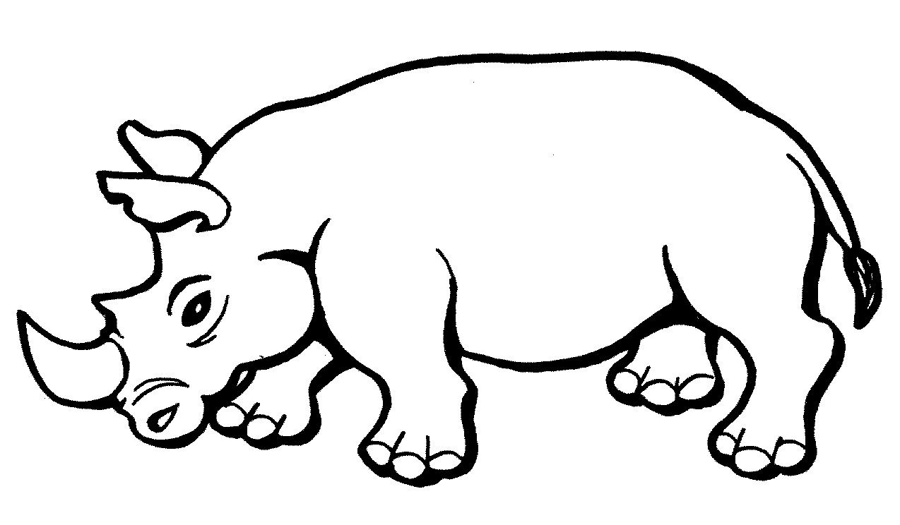 Rhino coloring #20, Download drawings