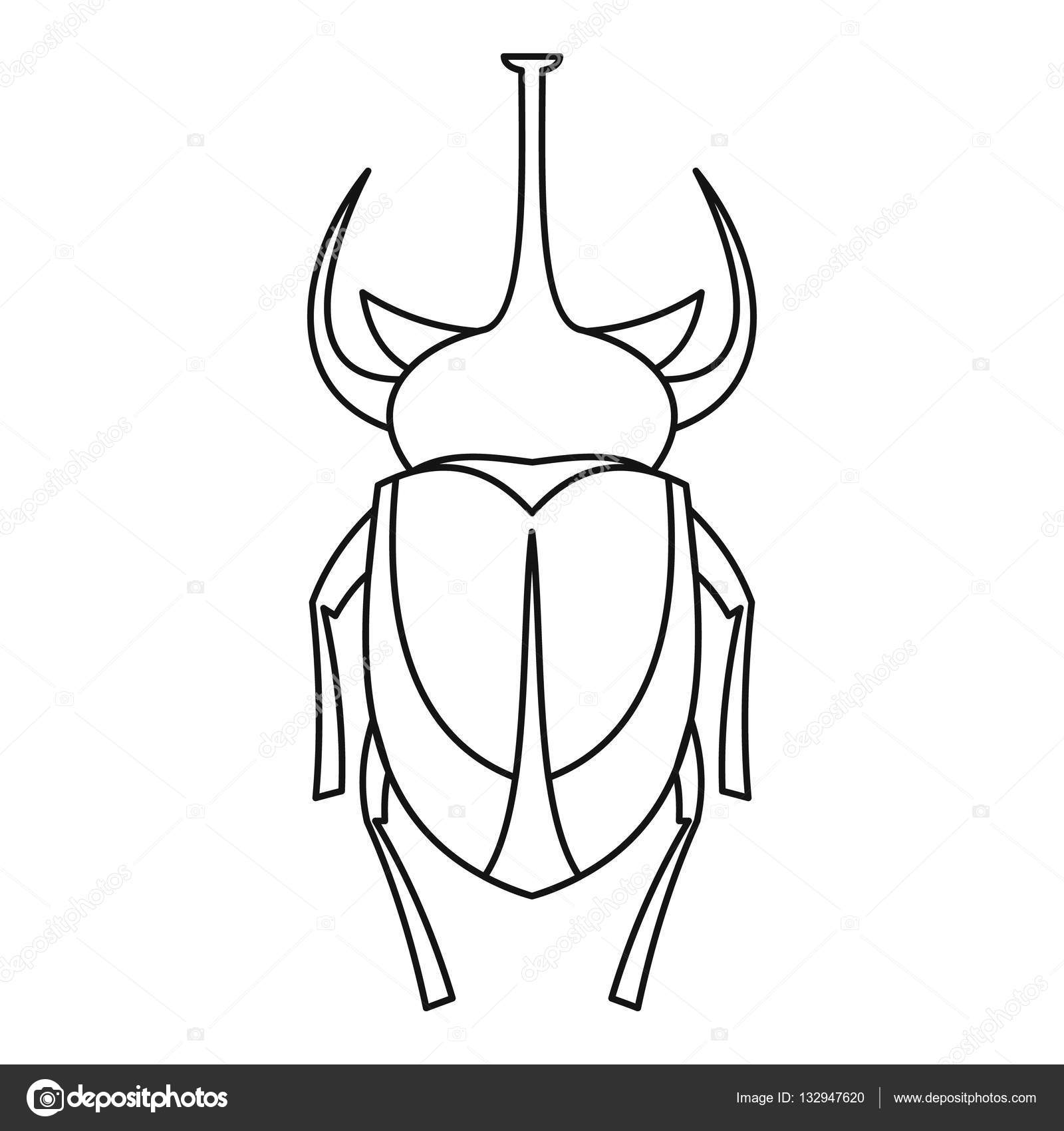 rhinoceros beetle coloring pages - photo#17
