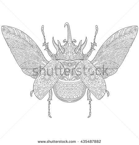 Rhinoceros Beetle coloring #4, Download drawings