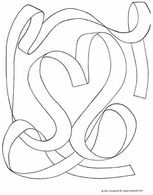 Ribbon coloring #12, Download drawings