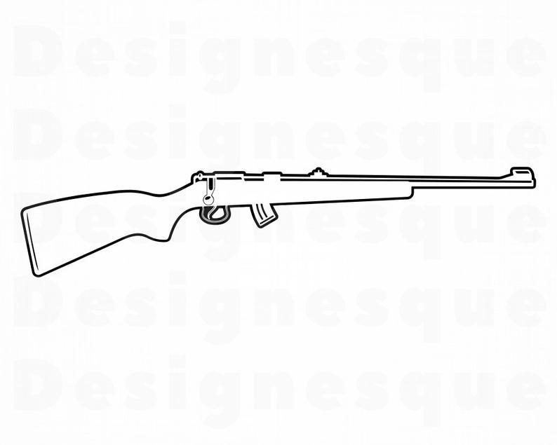 rifle svg #1256, Download drawings