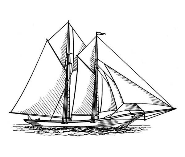Schooner coloring #17, Download drawings