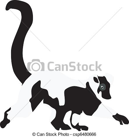Ring-tailed Lemur clipart #1, Download drawings