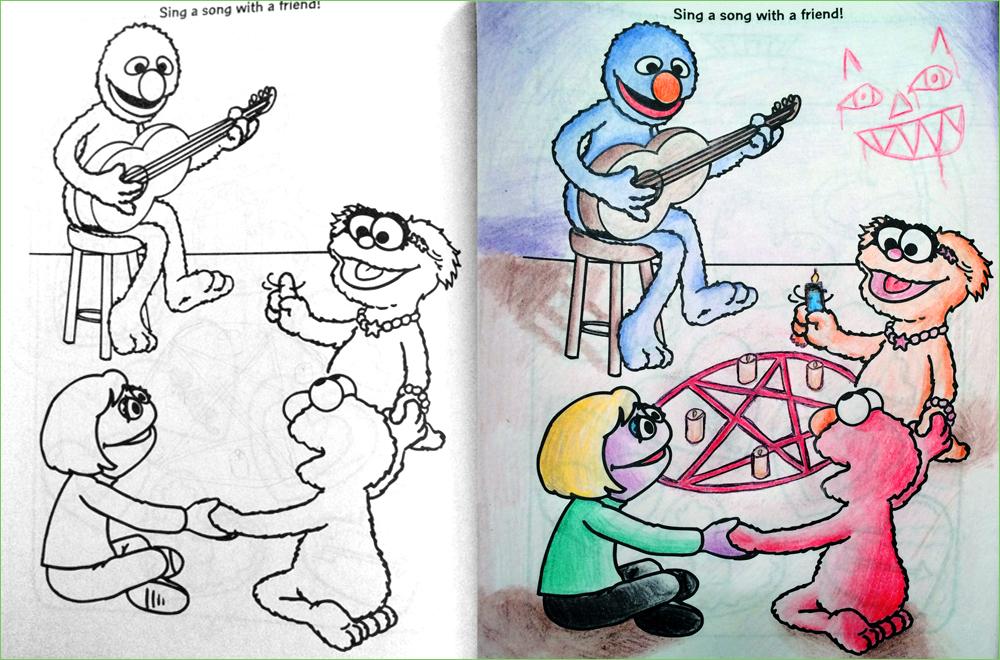 Ritual coloring #2, Download drawings