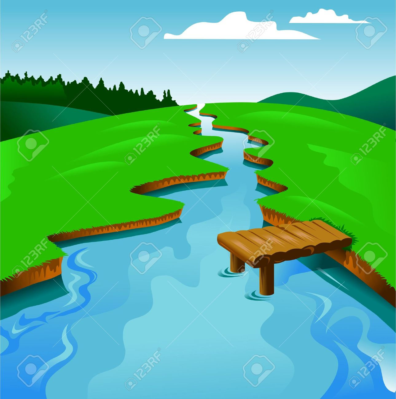 River clipart #6, Download drawings