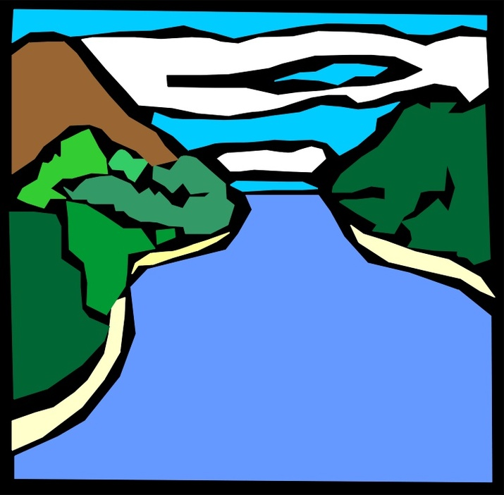 River clipart #17, Download drawings