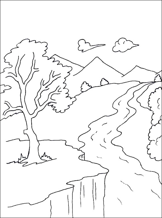 River coloring #13, Download drawings