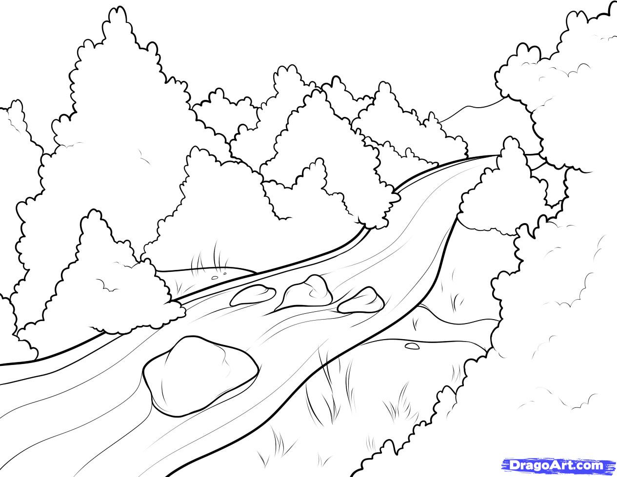 River coloring #6, Download drawings