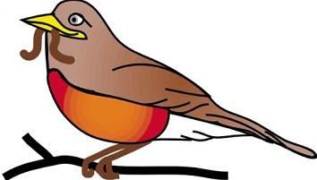 Robin clipart #14, Download drawings