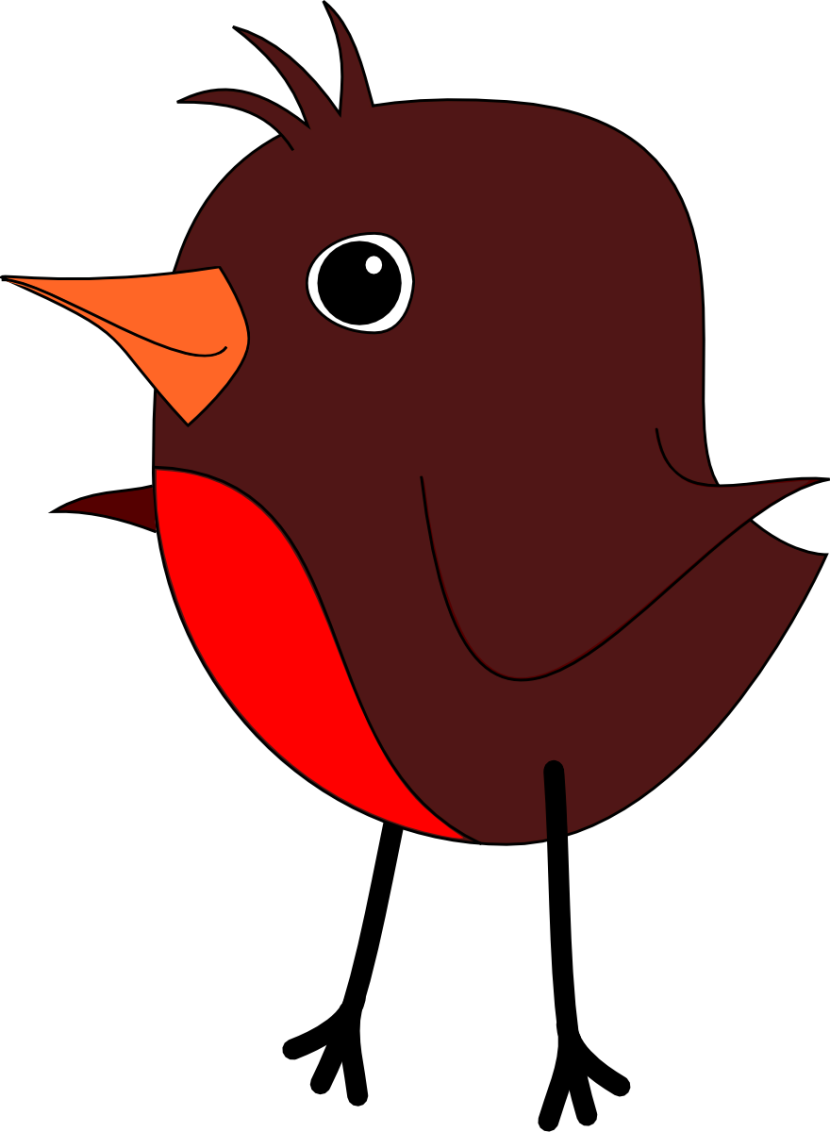 Robin clipart #5, Download drawings