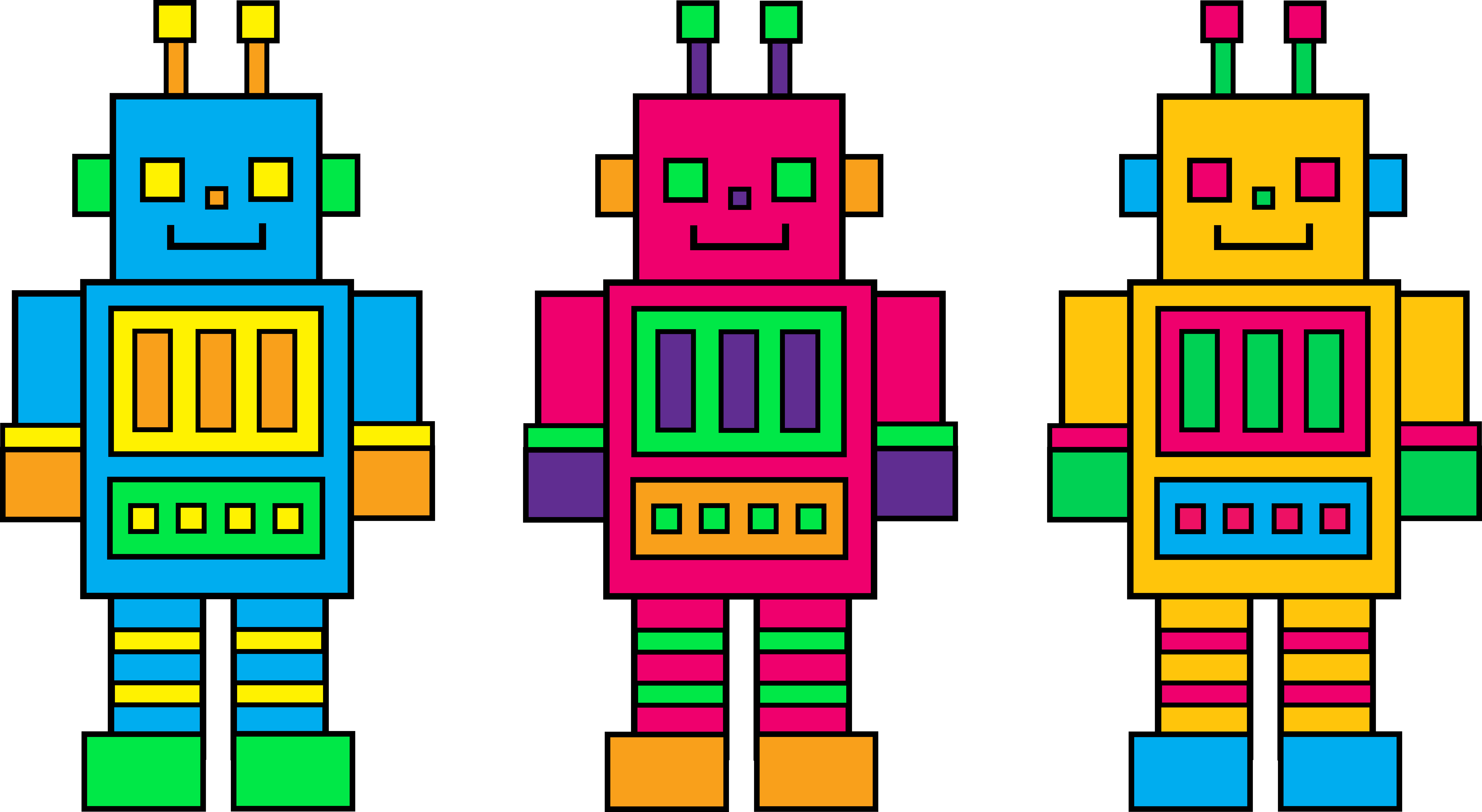 Robot clipart #2, Download drawings