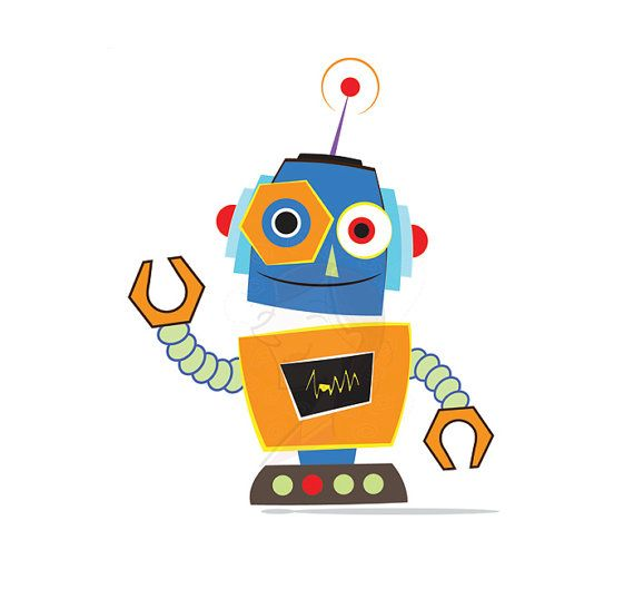 Robot clipart #1, Download drawings