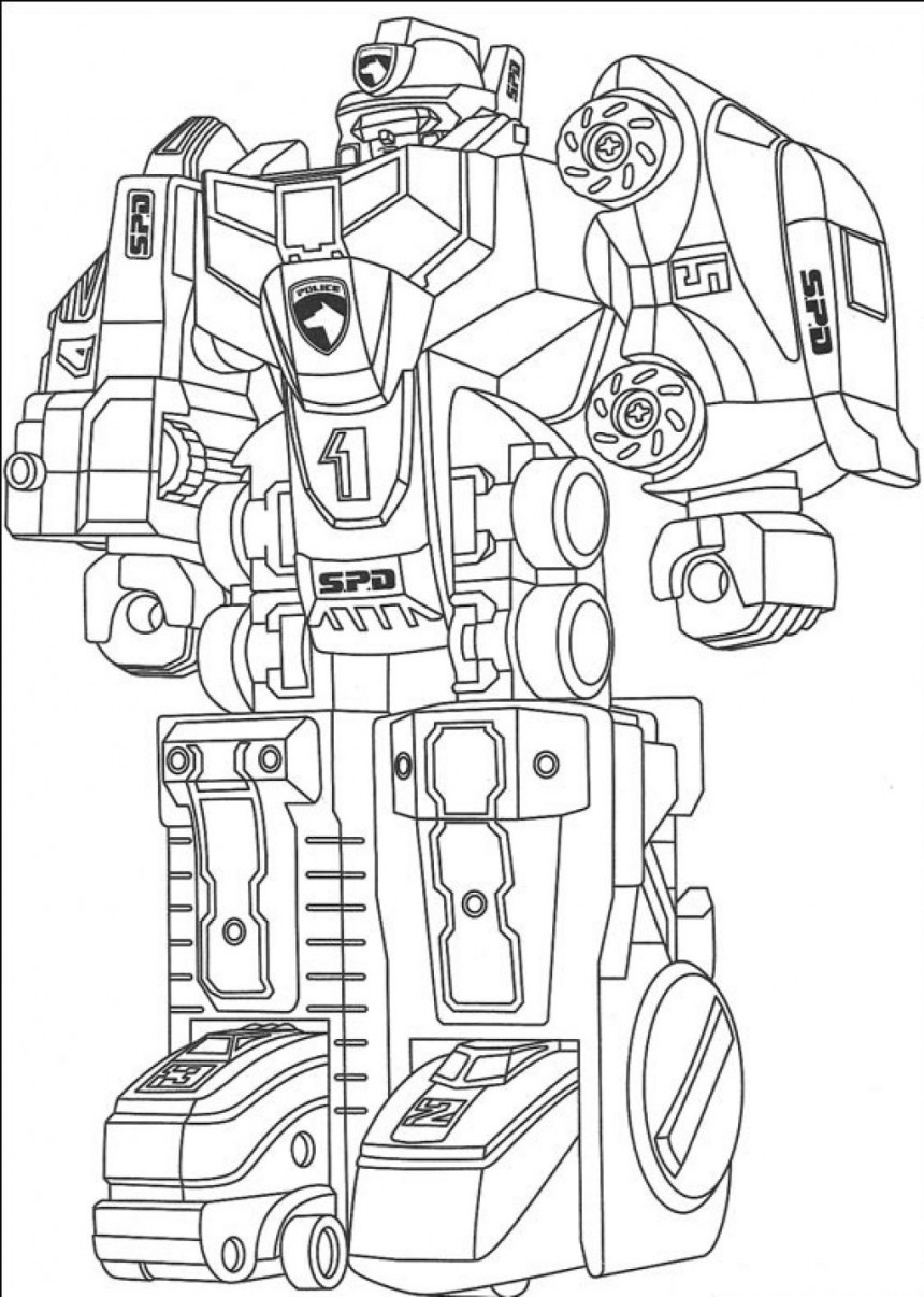Robot coloring #19, Download drawings