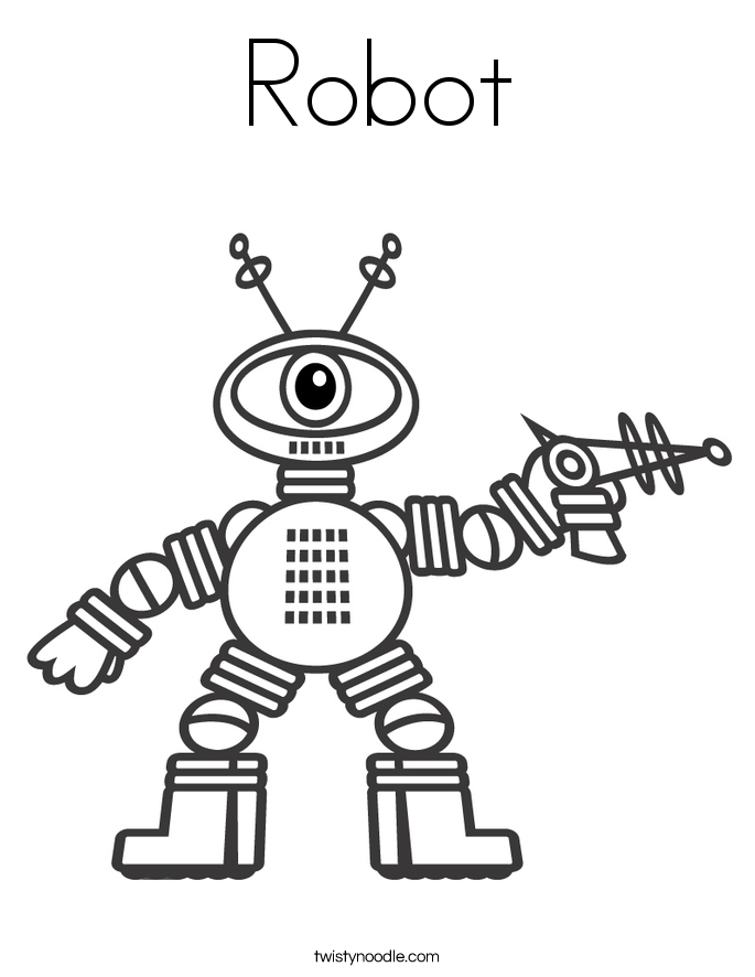Robot coloring #15, Download drawings
