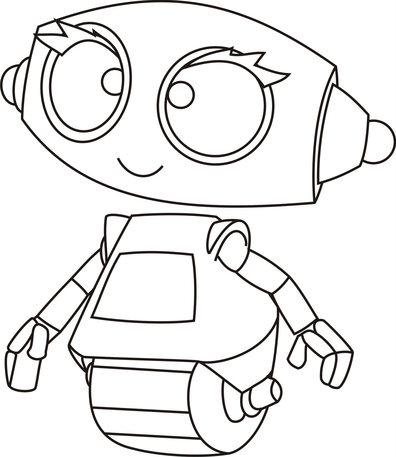 Robot coloring #7, Download drawings
