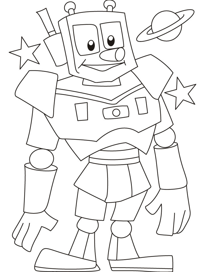 Robot coloring #20, Download drawings