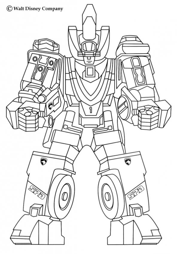 Robot coloring #10, Download drawings
