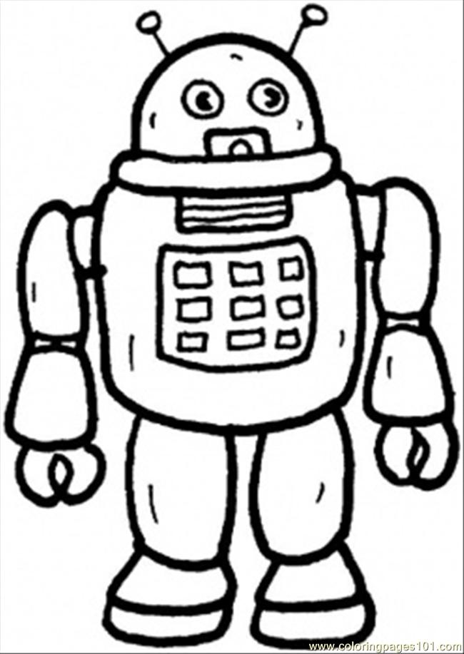 Robot coloring #18, Download drawings
