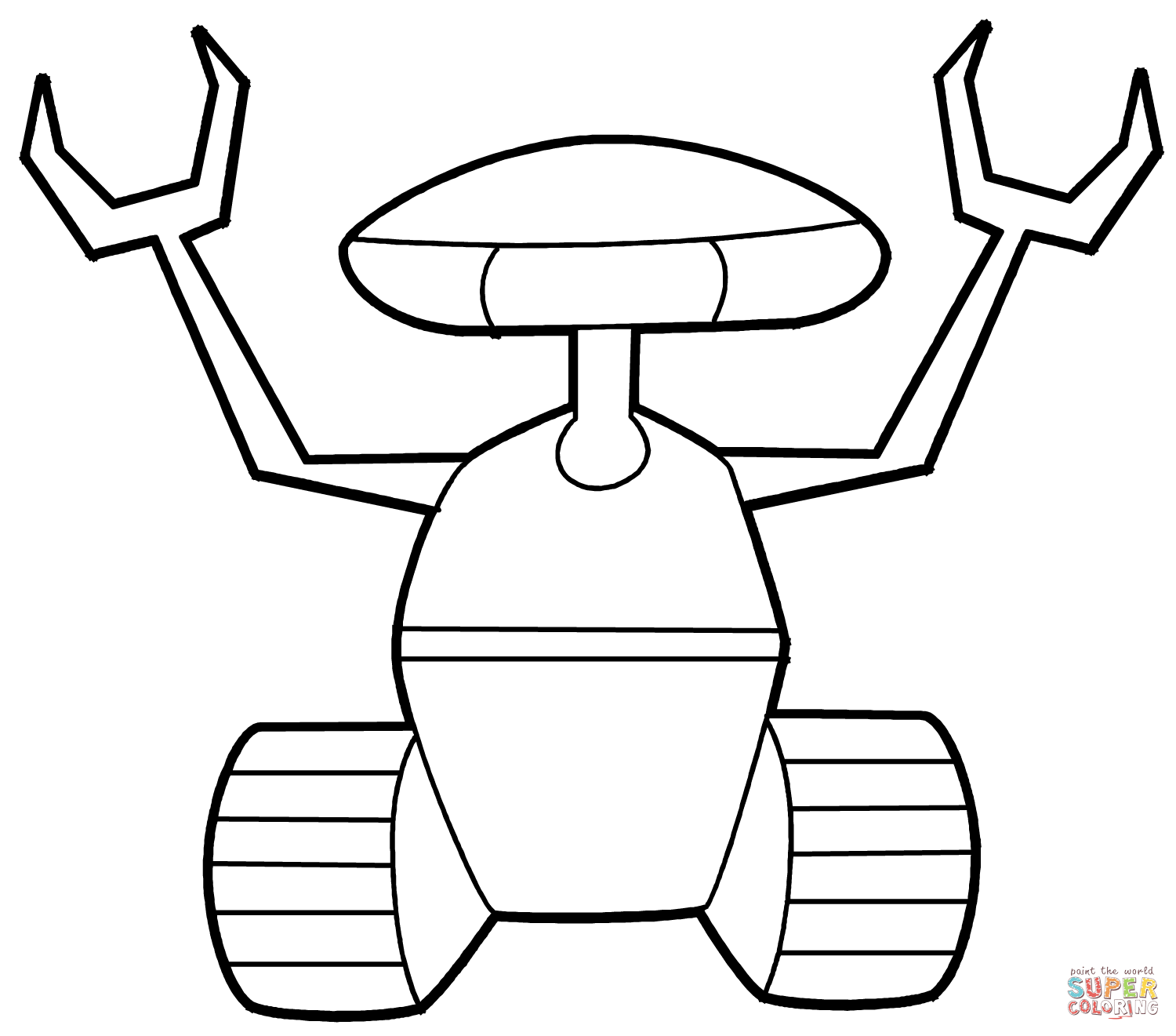 Robot coloring #14, Download drawings
