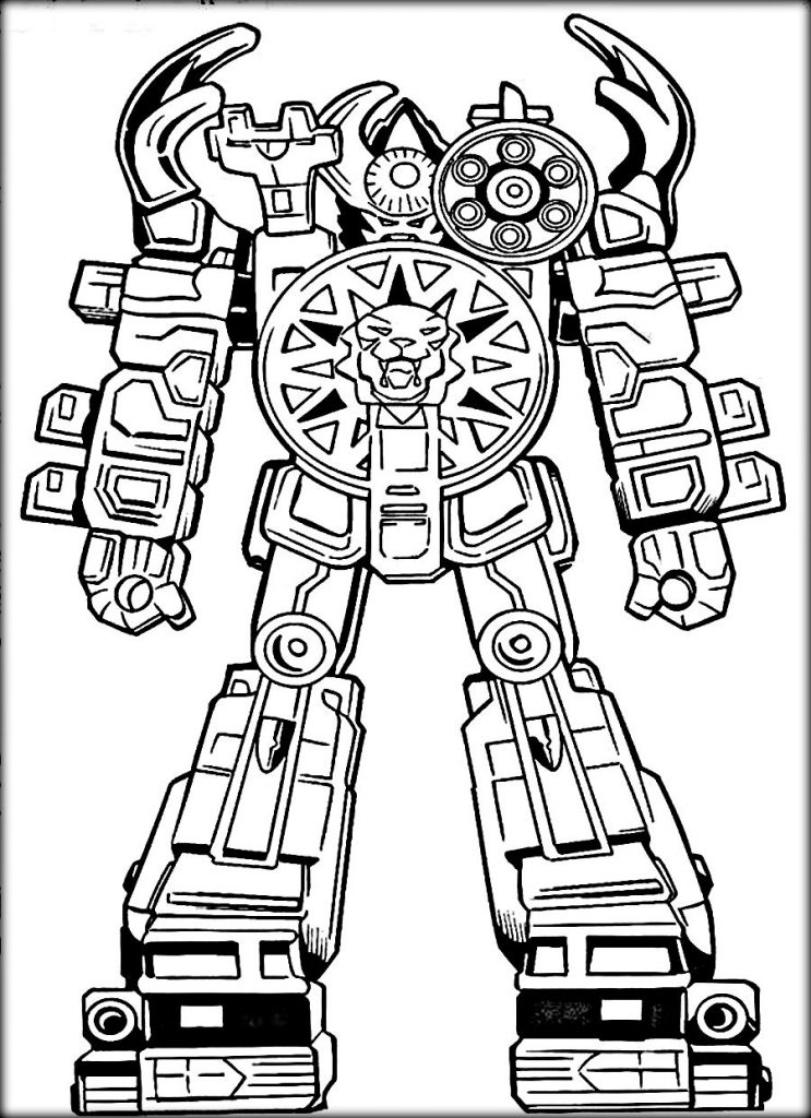 Robot coloring #3, Download drawings