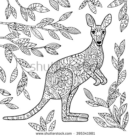 Rock Wallaby coloring #4, Download drawings